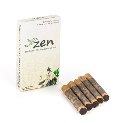 Zen Smokeless Moxa sticks and rolls from Lierre.ca Moxibustion