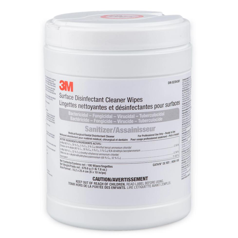 3M Surface Disinfectant Cleaner Wipes (6