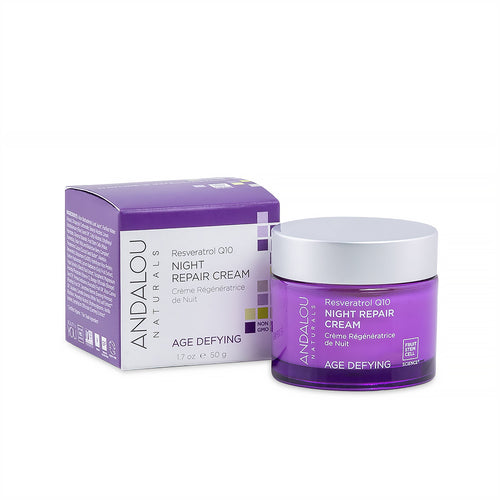 Andalou Age Defying Resveratrol Q10 Night Repair Cream | Lierre.ca