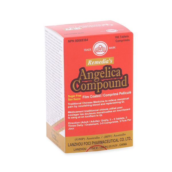 Angelica Compound 100 tablets Sugar free