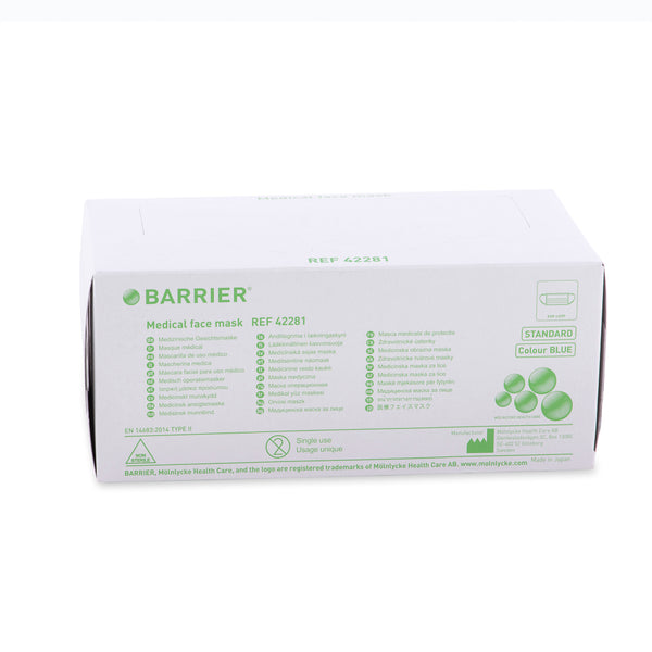 Barrier Medical Face Mask, Type II, filtration up to 0.6micron