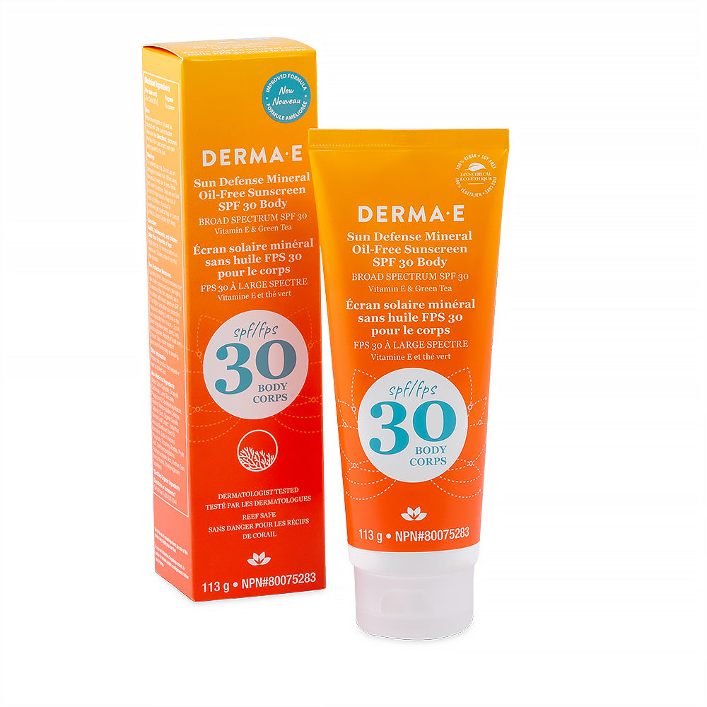 Derma E Body Sun Defence Mineral Oil-Free Sunscreen SPF 30 Body 113g