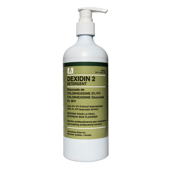 Dexidin 2 antiseptic solution skin cleanser 450ml with pump