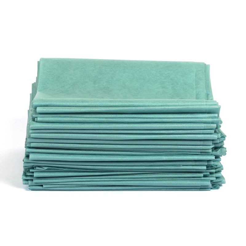 Disposable Poly Table Sheets Green (box)