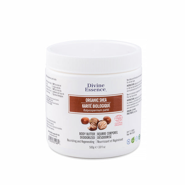 Organic Shea Body Butter (Deodorized) 500g, Divine Essence