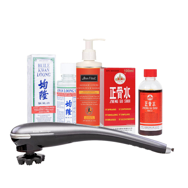 Multi Function Electric Massager and Healing Liniment