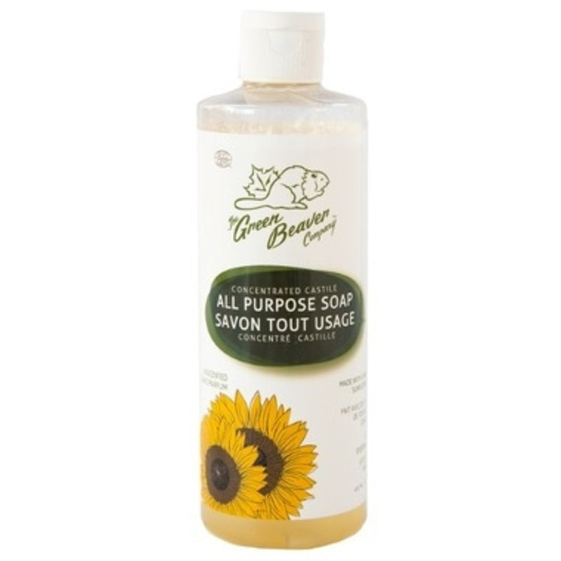 Green Beaver Concentrated All Purpose Castile Soap Unscented 495ml