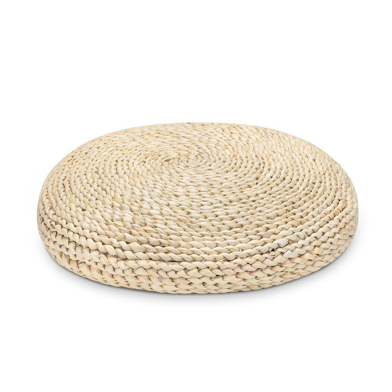 Handcrafted Straw Pouf Meditation Cushion
