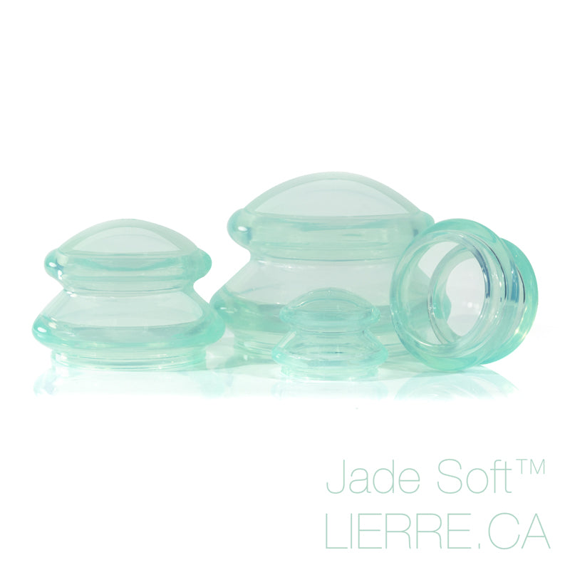 Jade Soft™ Body and face massage silicone cupping set 12pcs