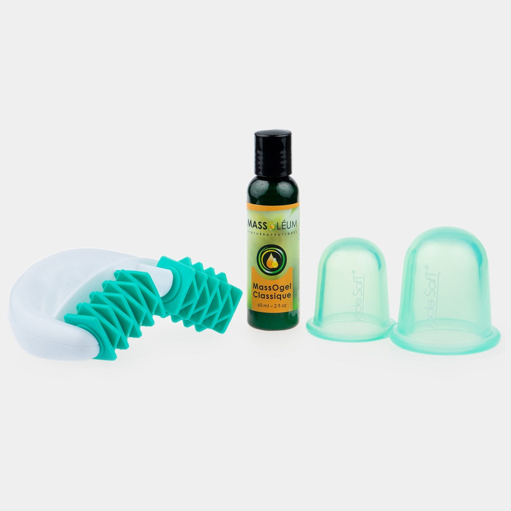 Jade Soft® Detox Anti-Cellulite Massage Roller and Cupping Package