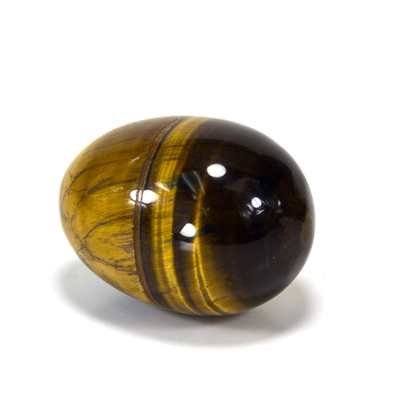 Natural Handcarved Tiger's Eye Gemstone Egg