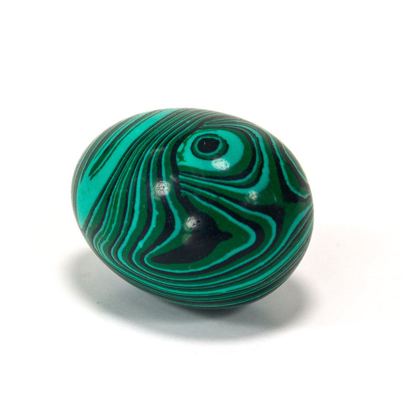Natural Handcarved Malachite Gemstone Egg