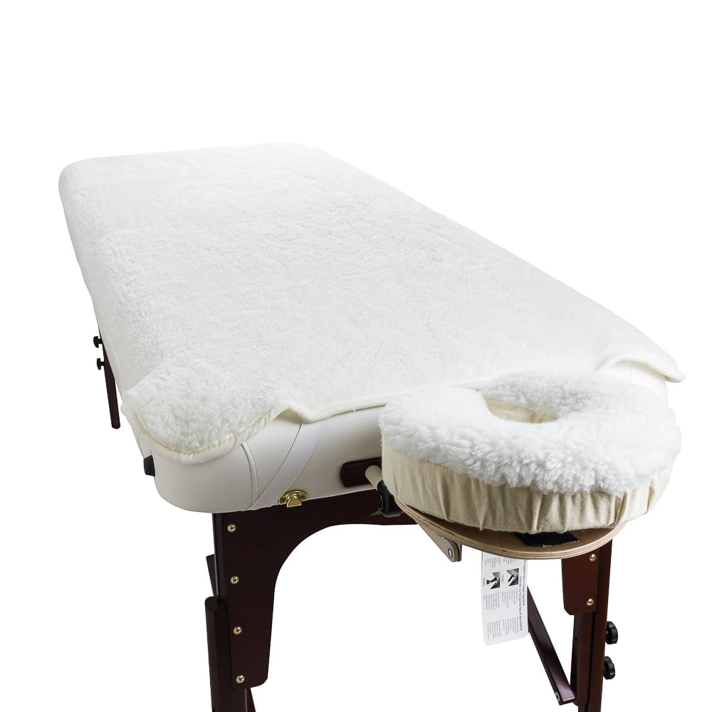 Massage Table and Headrest Cover Fleece Set