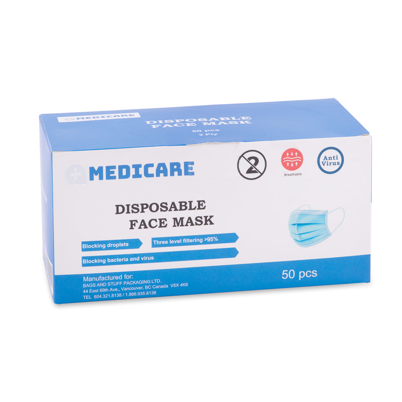 Medicare Disposable Face Mask 50pcs