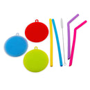Silicone Dishwashing Brush and Straw Combo