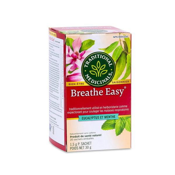 Traditional Medicinals Tea - Breath Easy Eucalyptus Mint - 30g, 20 tea bags