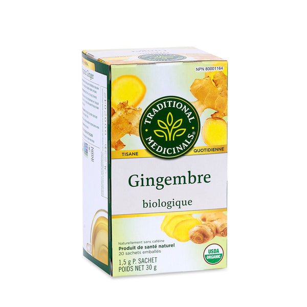 Traditional Medicinals Tea - Organic Ginger - 30g, 20 tea bags