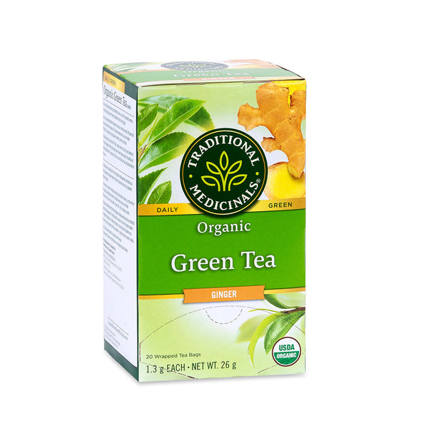 Traditional Medicinals Tea - Organic Green Tea Ginger - 26g, 20 tea bags