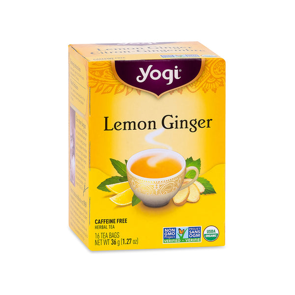 Yogi Tea Lemon Ginger organic herbal tea, 36g, 16 tea bags