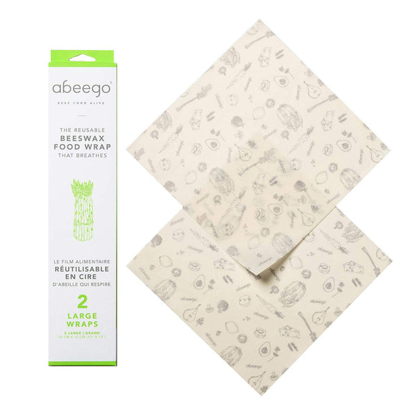 Abeego Large Beeswax Food Wraps (2)