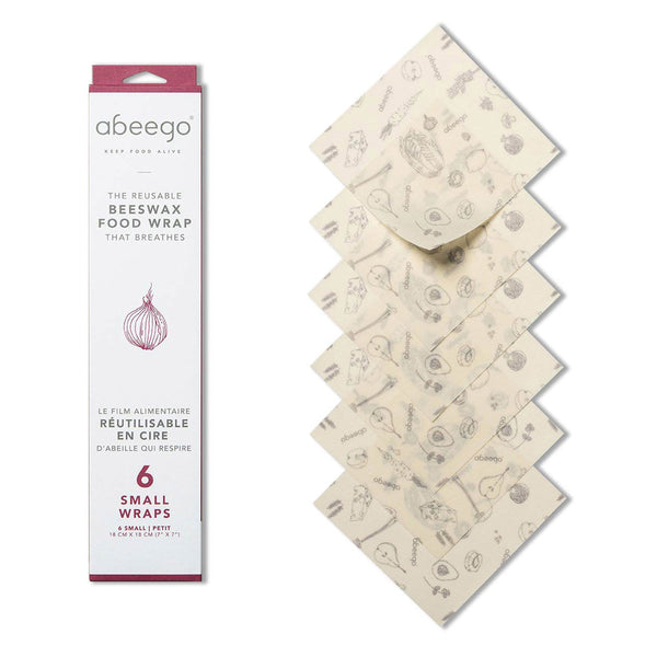 Abeego Small Beeswax food Wraps (6)