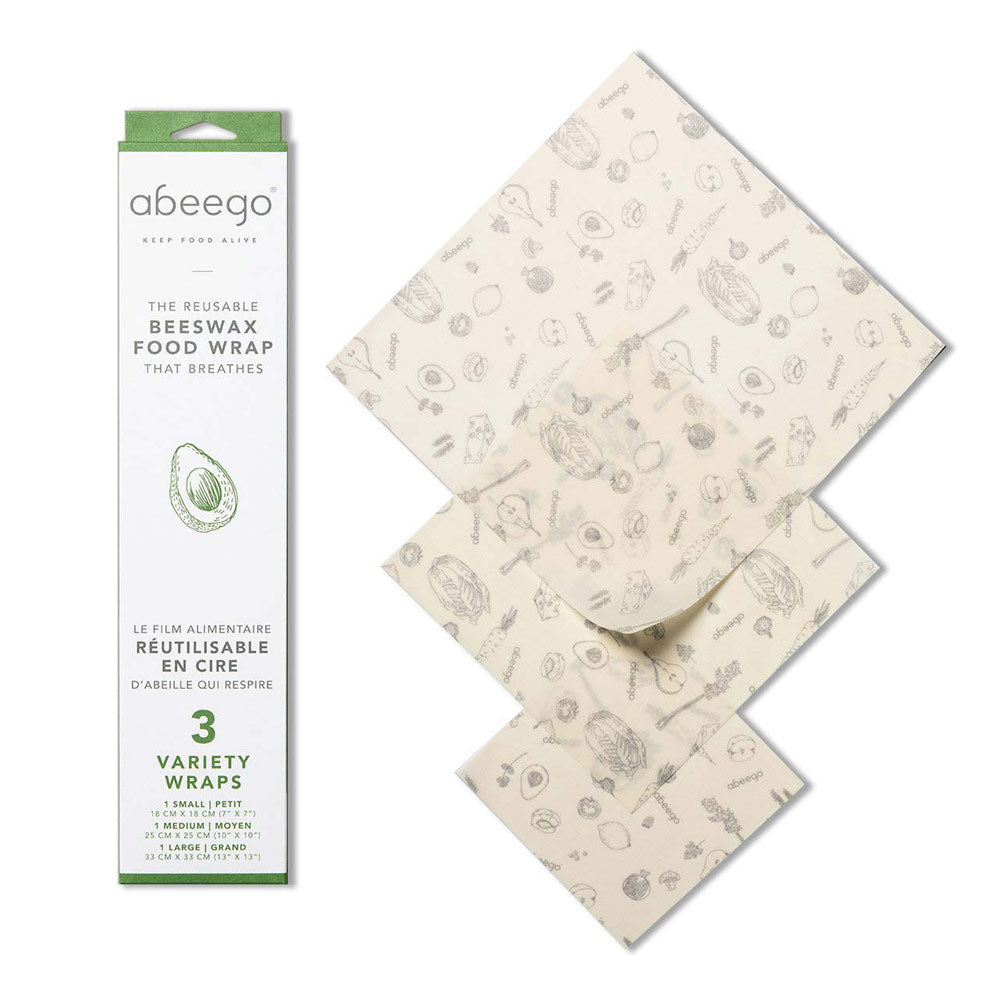 Abeego Variety Beeswax Food Wrap set (3)