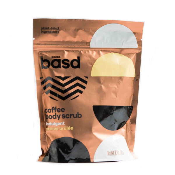 Basd coffee body scrub in indulgent creme brulee
