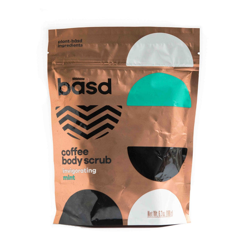Basd coffee body scrub with invigorating mint