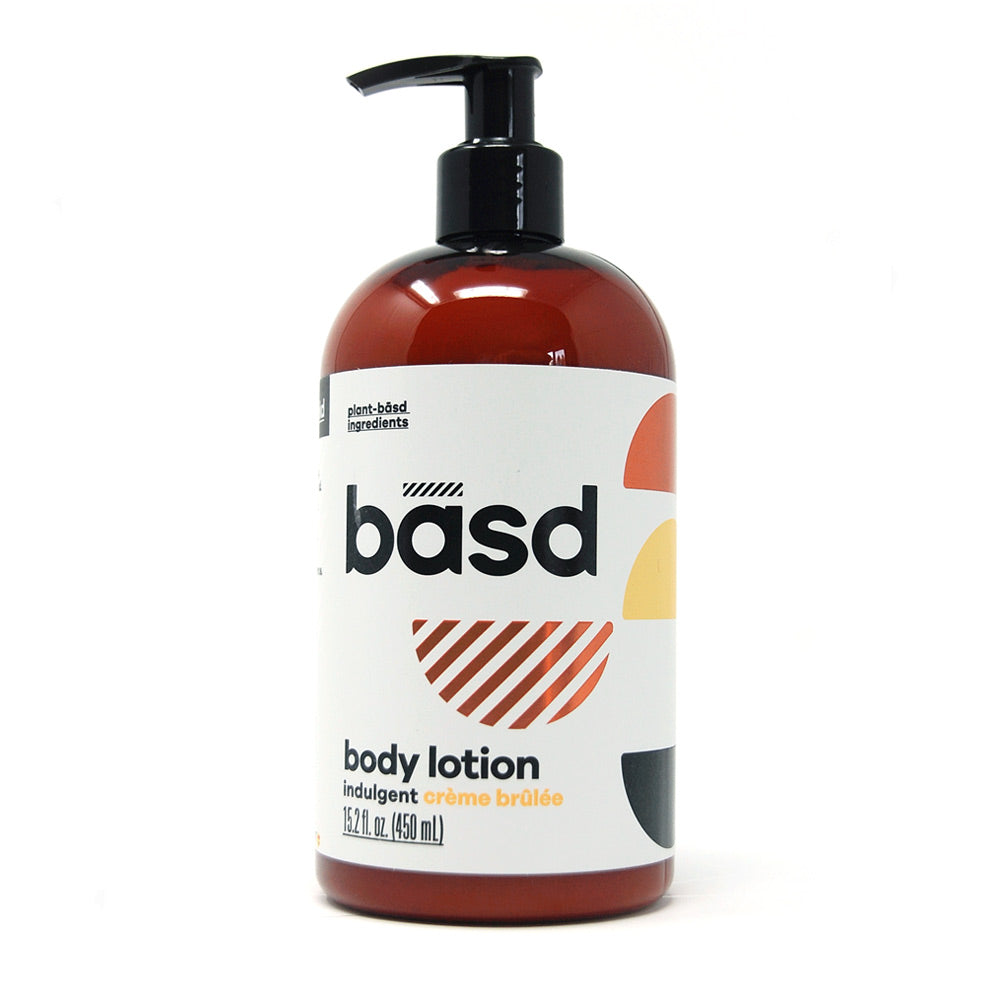 Basd body lotion in creme brulee