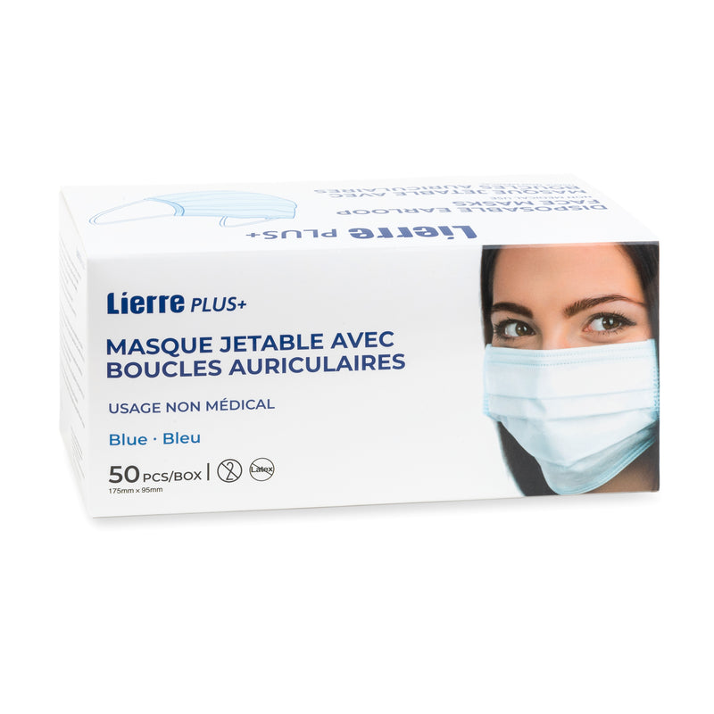 Lierre Plus disposable earloop face masks 50pcs
