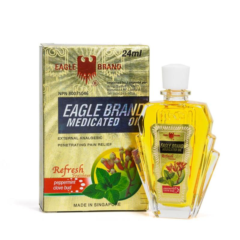 Eagle Brand Medicated Oil, Peppermint and Clove Bud