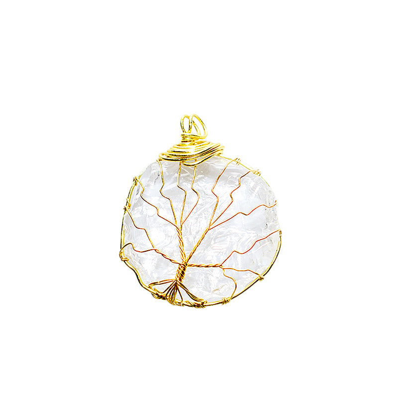 Clear Quartz Tree of Life Pendant