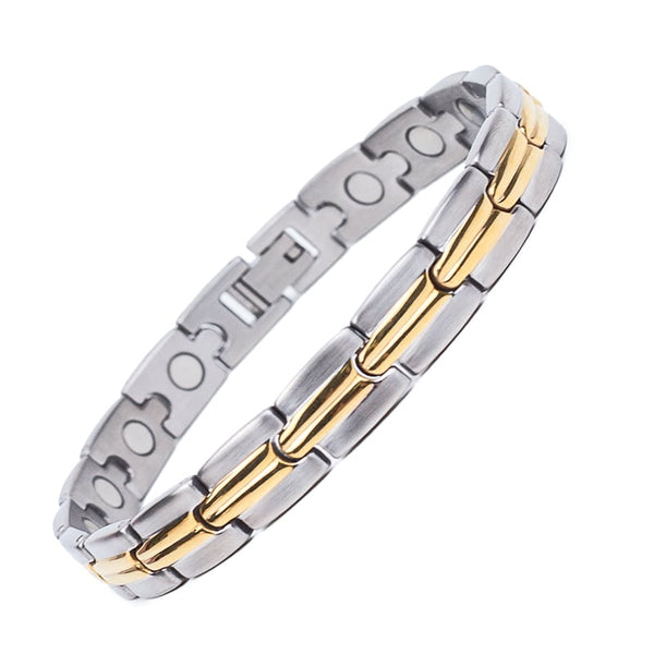 Middle Striped Magnetic Therapy Bracelet