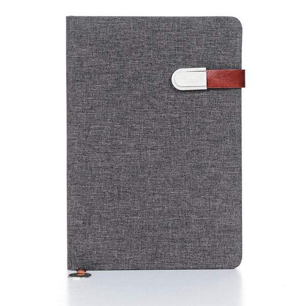 Fabric Notebook, 96 Sheets, A5, Khaki&Brown