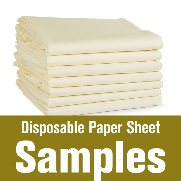 Disposable Paper Sheet Samples