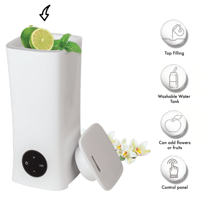 Naturaroma Humidifier 2L, top fill cool mist with LED