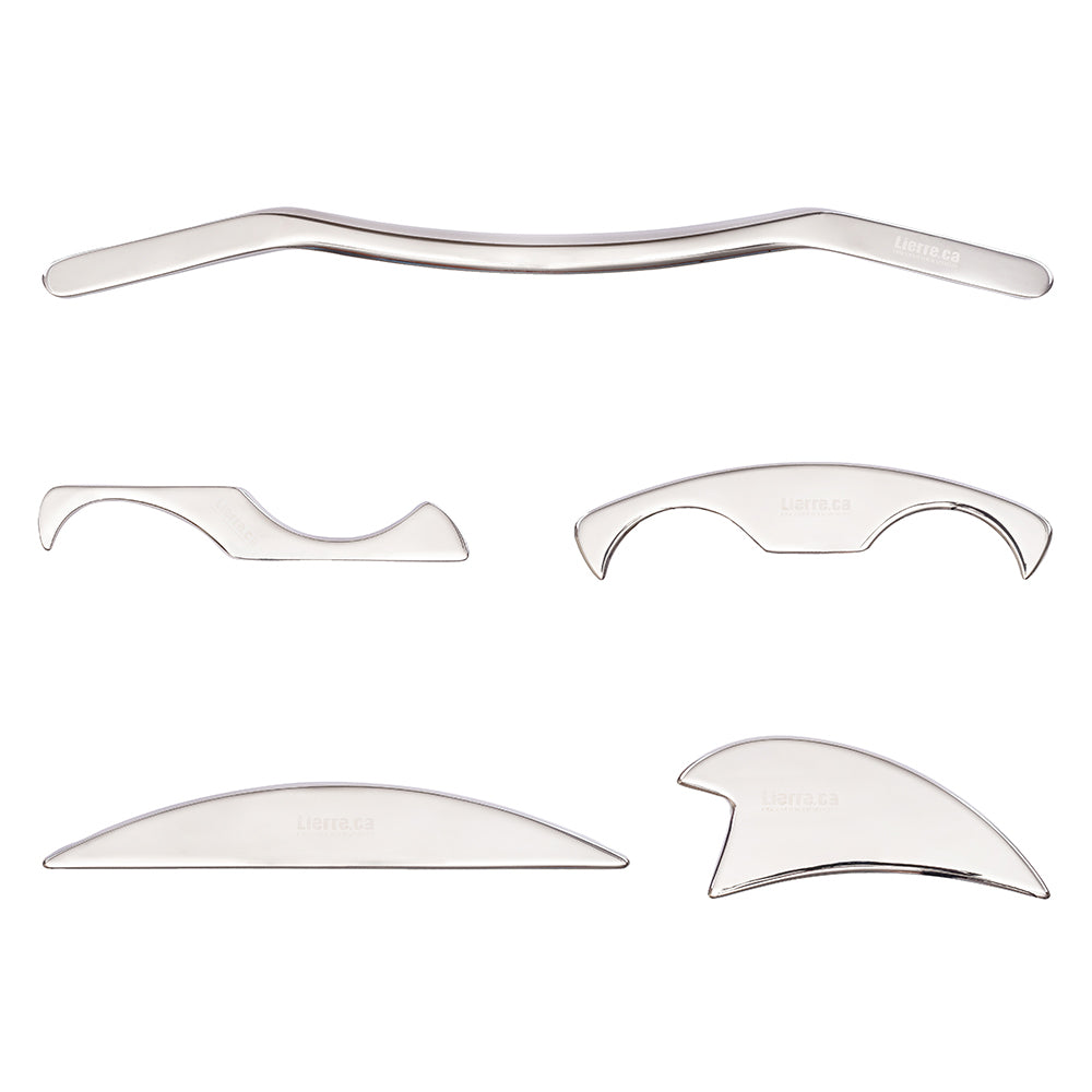 Stainless Steel IASTM tools Half Moon Deluxe Bundle (5 Pieces)