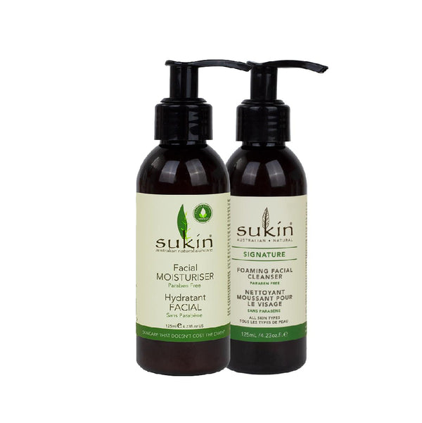 Sukin Facial Moisturizer and Cleanser Holiday Gift Set