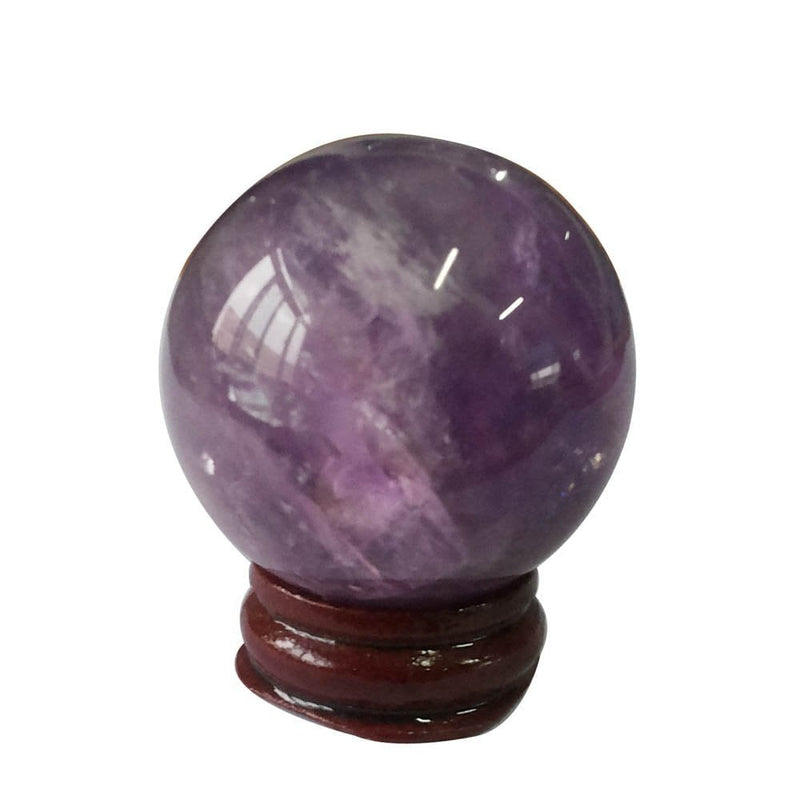 "Natural Amethyst Crystal Ball 40mm (1.57"") with Stand"
