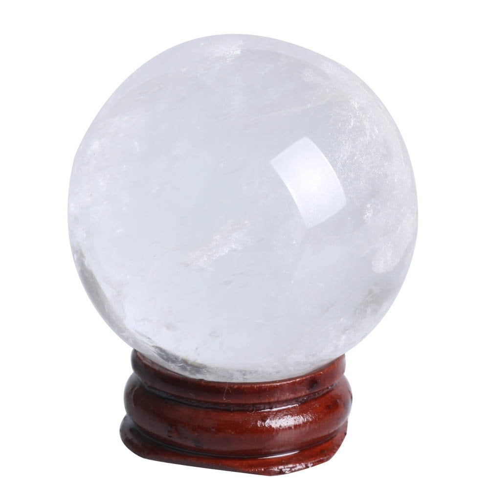 Boule de cristal de quartz clair naturel 43 mm (1.73