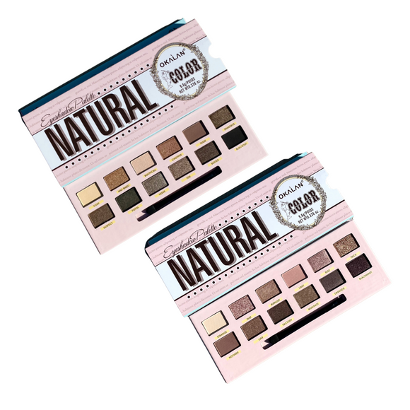 OKALAN 12 Color Natural Eye Shadow Palette