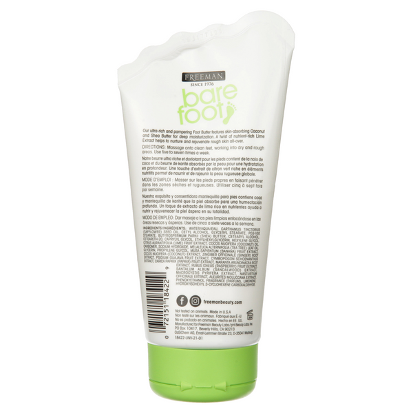 FREEMAN Nourishing Foot Butter Lime & Coconut
