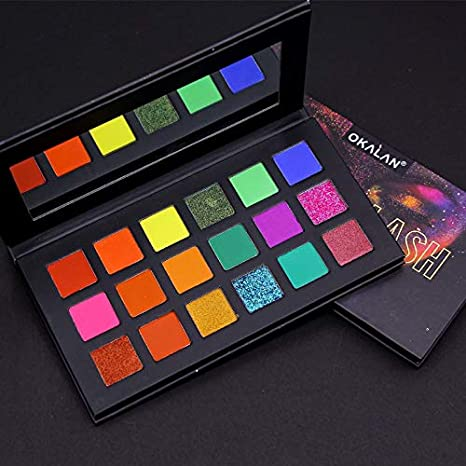 OKALAN Neon Splash 18 Color Eyeshadow