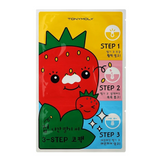 TONYMOLY Runaway Strawberry Seeds 3-Step Nose Pack (Pack of 2)