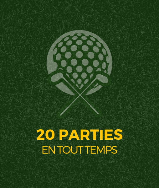20 Parties de golf 18 trous en tout temps - Club de golf Saint-Simon