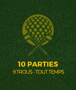 Partie de golf 9 trous - golf st-simon