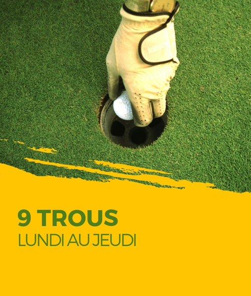 Partie de golf 9 trous club de golf saint-simon