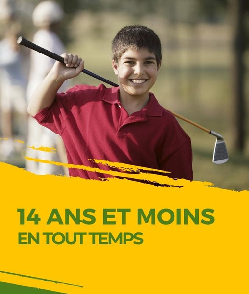 Partie de golf 18 trous adolescent