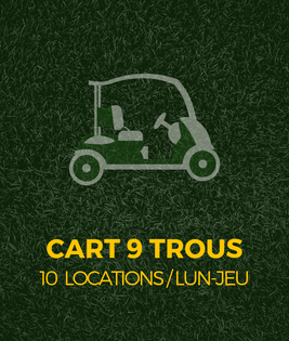Voiturette de golf - cart de golf 9 trous