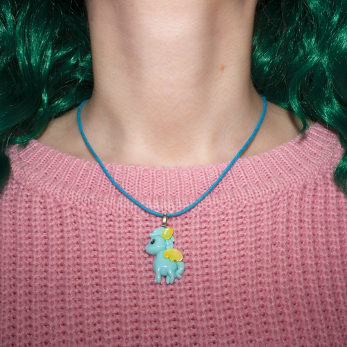 Blue Pegasus Necklace